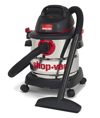 New Shop-Vac Wet/Dry Vacuum Portable 5-Gallon Stainless Steel Cleaner 4.5PeakHP