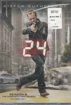24 COMPLETE 8TH Eighth Season 8 Eight BRAND NEW 6 DISC DVD SET