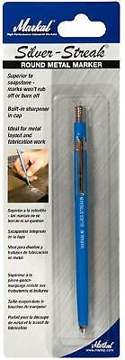 Metal Marker Silver-Streak Round Visible Silver 6 Durable Refills by Markal