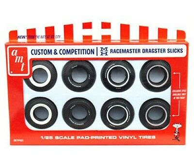 1/25 Custom & Competition Racemaster Dragster Slicks/Tires AMT kit#PP001