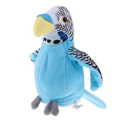 Waving Wings Talking Parrot Repeat Talk Imitates You Say Funny Speaking Toys