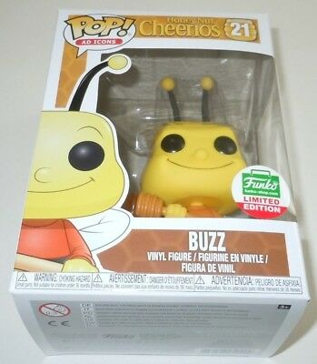 Buzz Bee Funko Pop #21 Limited Edition Exclusive Ad Icons Honey Nut Cheerios LE