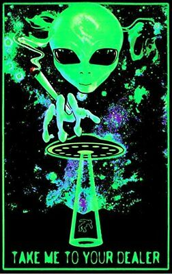 "Marijuana  Take Me To Your Dealer Black Light Poster FRIDGE Magnet 2.5"" x 3.5"""