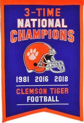 "Clemson TIGERS 2018  3x National Champions Banner   FRIDGE Magnet 2.5"" x 3.5"""