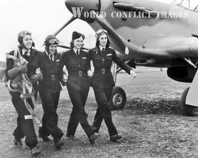RAF WW2 Hurricane Fighter ATA Polish Women Pilots ID'd 8x10 Photo