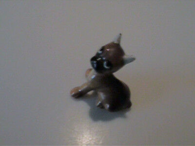 Vintage 1960's Hagen Renaker Miniature Boxer Puppy With Taped Ears