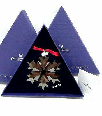 Swarovski Christmas Holiday Ornament Red Ann Ed.-2018 RED Crystal MIB 5460487