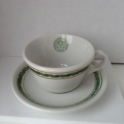 Vintage UNIVERSITY CLUB OF CHICAGO Mug/Cup & Saucer Shenango Restaurant Ware
