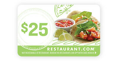 $25 x 2 restaurant.com giftcard (ecode email delivery)