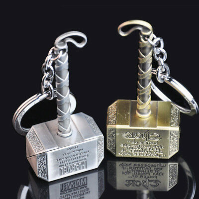 Marvel The Avengers Thor's Hammer Mjolnir Alloy Key Chains Keychain Keyring
