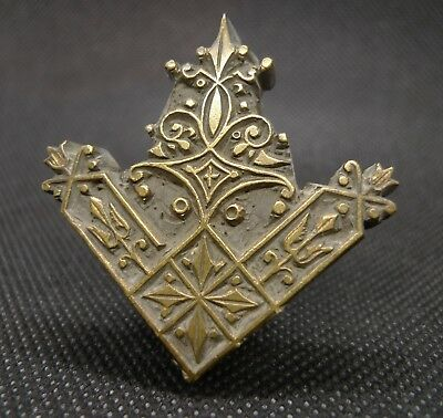 Decorative Victorian Letterpress printing block, bronze, 19th Century, pendant