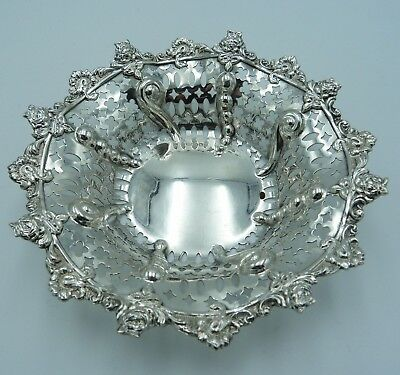 Clean & Tidy Victorian Sterling Silver Bon Bon Nut Dish Bowl 1898 William Neale