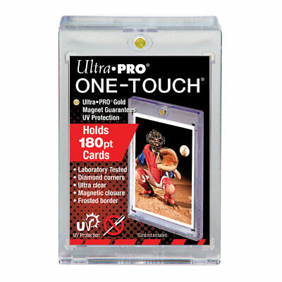 (10) Ultra Pro One Touch 180pt Super Thick Magnetic Trading Card Holder with UV