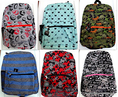 City Streets Boys Girls Back to School Canvas Backpack Choose Pattern FREE SHIP!