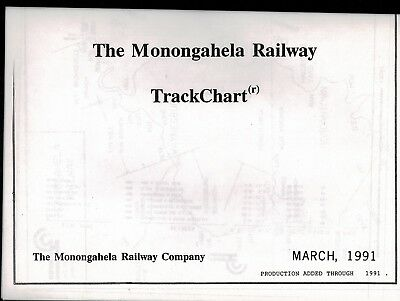 The Monongahela Railway Track Chart March 1991 FREE SHIPPING