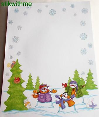 New WINTER WONDERLAND  Specialty Themed Stationery Computer Printer Paper 15 ct.