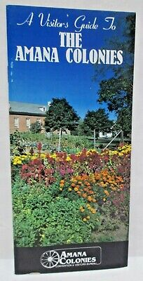 Vintage Visitors Guide To The Amana Colonies Iowa Travel Brochure Tourist Map