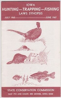 1967 Iowa Hunting Trapping & Fishing Booklet