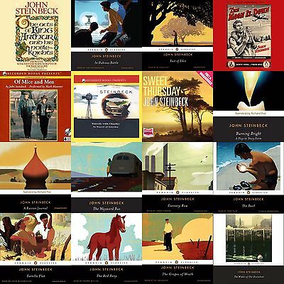 John Steinbeck 26 Audiobook Collection on mp3 DVD