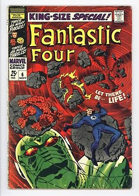 Fantastic Four Annual #6 Vol 1 Very Nice Mid Grade 1st Appearance of Annihilus