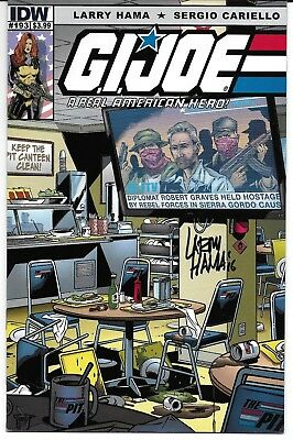 G.I. Joe: A Real American Hero 193 Signed by Larry Hama Autographed IDW