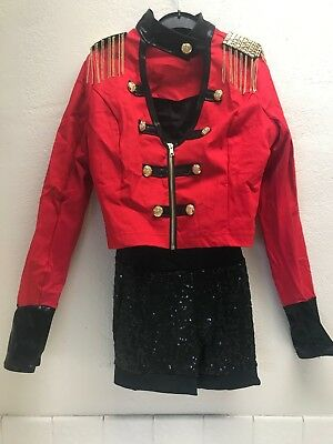 """Weissman's """"Confident: Black & Red Military Style Costume size small adult."""