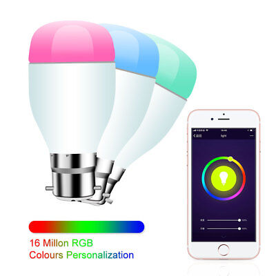 SMART B22 multi colour 7W RGBW LED Compatible with Alexa and Google home