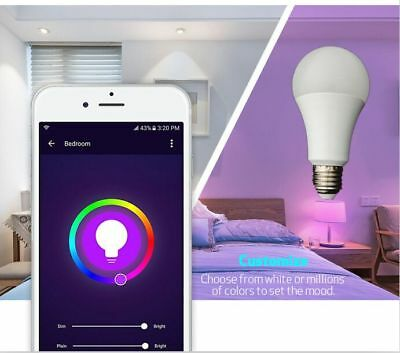 WiFi Smart E27 LED 4.5W Compatible with Alexa and Google home (2 PACK)