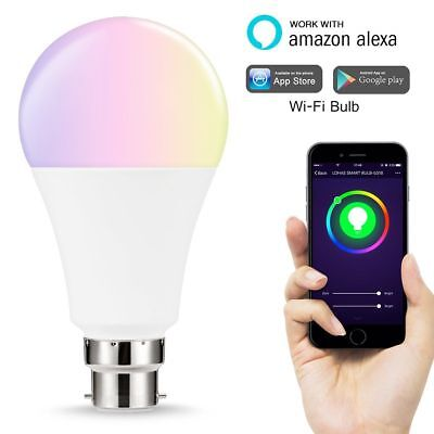 WiFi Smart B22 LED 7W Compatible with Alexa and Google home