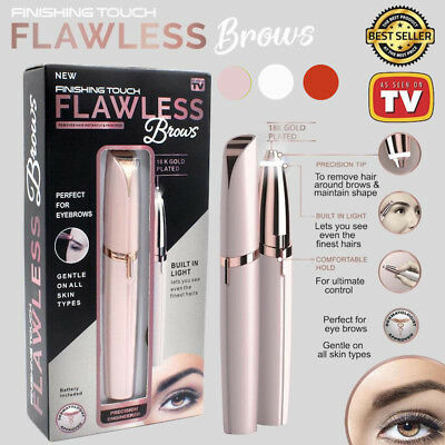 Women Flawless Brows Facial Hair Remover Electric Eyebrow Trimmer Epilat