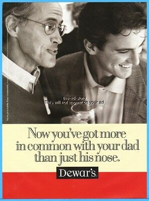 1997 Dewar's Scotch Now You've Got More In Common With Your Dad Photo Ad