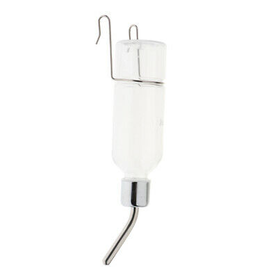 Bird Cage Water Bottle Drinker with Clips Waterer for Finch, Canary, Budgies