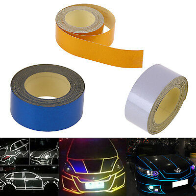 5M Car Auto Reflective Safety Warning Conspicuity Tape Film Art Sticker Adhesive