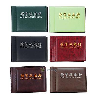 SN9F 60 Slots Money Penny Pocket Coin Collection Holder Storage Album Book
