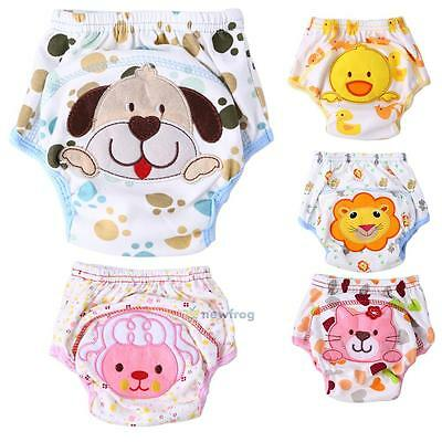 Lovely Infant Toddler Kid Baby Cloth Diaper Cover Toilet Training Pants Nappy