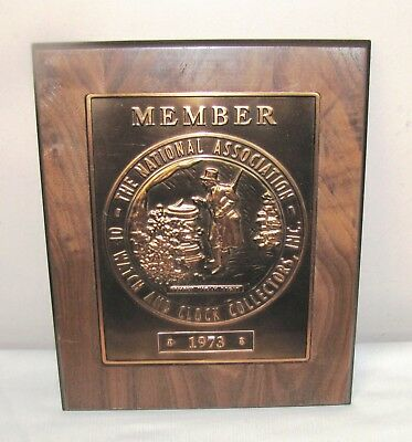 National Association Of Watch And Clock Collectors Plaque--1973