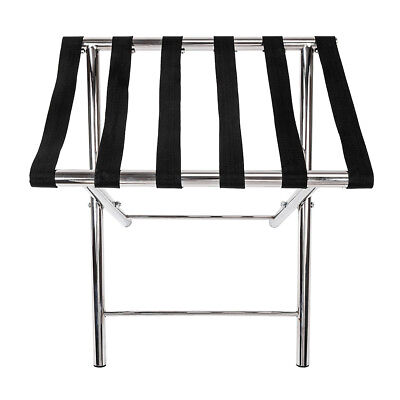 High Quality Metal Folding Luggage Suitcase Rack Stainless Steel Silver