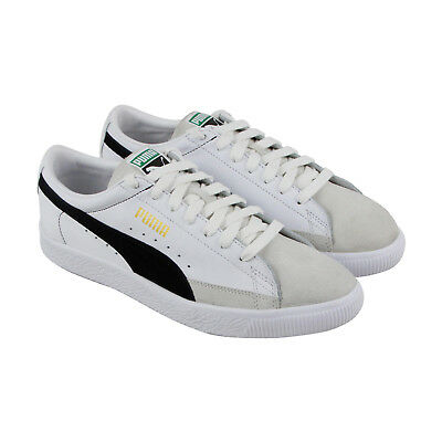 d2f53a1ca3c PUMA BASKET 90680 Mens White Leather Lace Up Sneakers Shoes -  28.99 ...