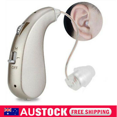 AU Digital Hearing Aids Behind the Ear BTE Sound Voice Amplifier Rechargeable
