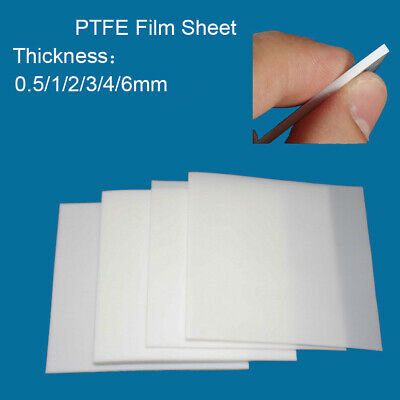 0.5/1/2/3/4/6mm Thickness PTFE Film Sheet Plate High Temperature Plastic Sheet