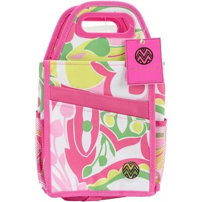 "Storage Studios Macbeth Spinning Craft Tote-7.25""x7.25""x15.75"", Pink & Green"