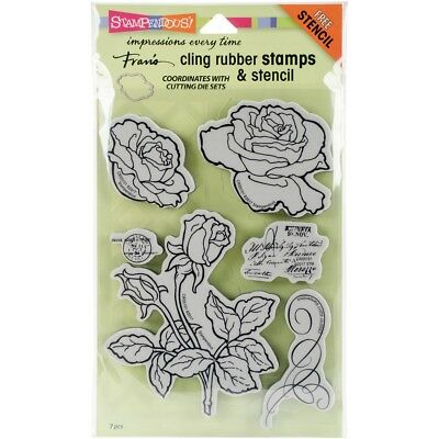 Stampendous Cling Build A Bouquet Stamp Set Stencil Inch Frans Stamps x Rubber