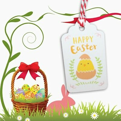 50x/Bag Easter Hang Tags Scrapbooking Cards Hot  Home Party Crafts Decor Supply