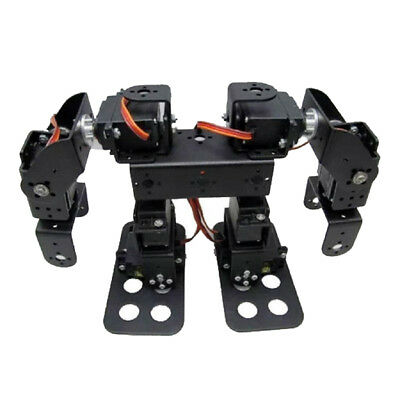Full Metal 8 DOF 2 Foot Biped Bipedal Walking Robot Set w/ High Torque Servo