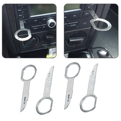 4PCS For VW Audi Ford Focus CD Stereo Radio Audio Removal Release Keys Tool Pass