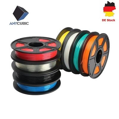 DE ANYCUBIC TPU Filament für 3D Drucker Chiron 1.75mm 500g/ Rolle Flexible Farbe