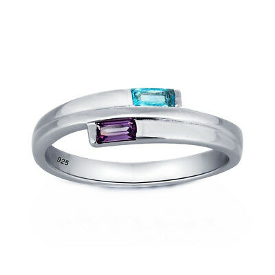 Charming Princess Cut Amethyst Ring Ladies Engagement Wedding Jewelry Gift LG