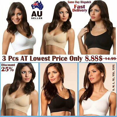 3 x GENUINE Genie Bra - Seamless Bra Women Fashion Shapewear Genie Sports Style