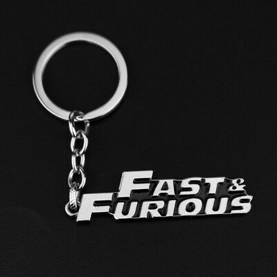Action Movie Fast & Furious Design Logo Alloy Key Chains Keychain Keyfob Keyring