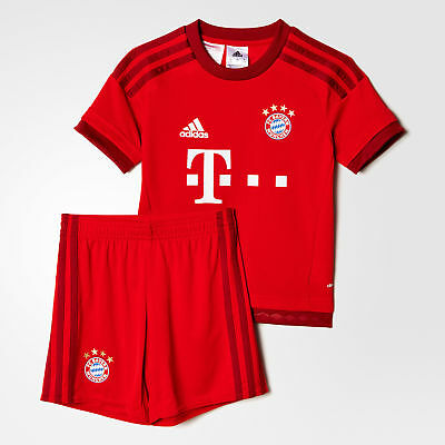 adidas Bayern Munich Home Mini Kit 2015/16 - Red 5-6 Years